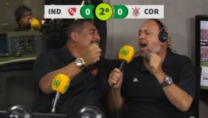 """Vampeta comemora e até """"narra"""" gol de Jadson sobre o Independiente"""