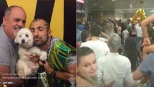 """Kaysar é recebido com gritos de """"é campeão"""" por multidão em Curitiba"""