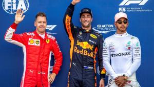 Ricciardo mantém domínio, bate recorde da pista e garante pole no GP de Mônaco