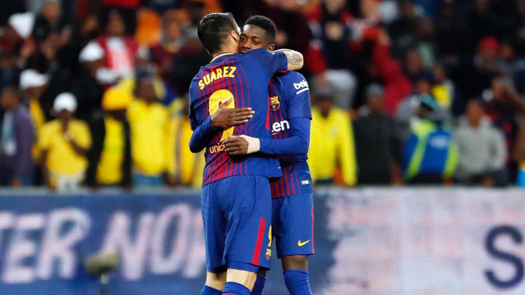 Sem descanso, Barça vence amistoso na África do Sul que homenageia Mandela
