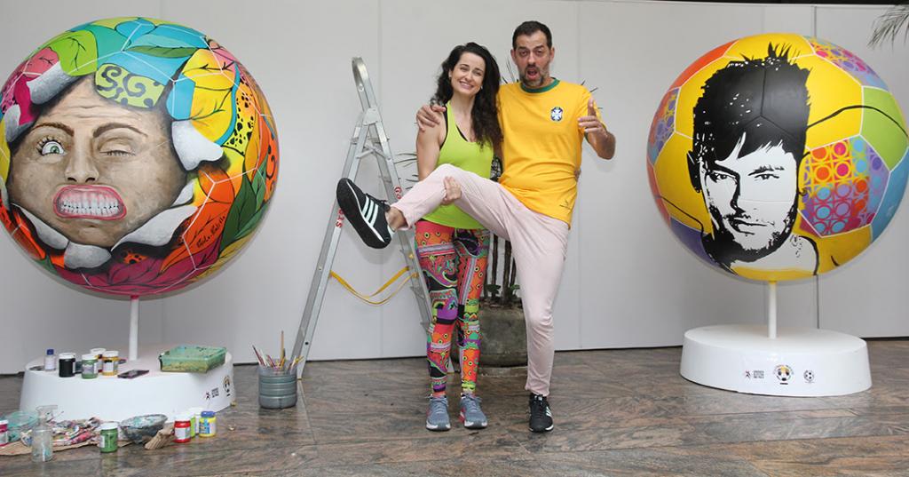 """Arte e futebol  São Paulo vai receber exposição de """"bolas gigantes ... c73017717320f"""