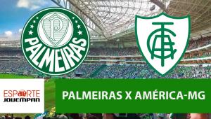 Palmeiras x América-MG: acompanhe o jogo ao vivo na Jovem Pan