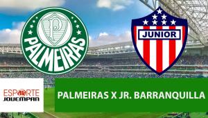 Palmeiras x Junior Barranquilla: acompanhe o jogo ao vivo na Jovem Pan