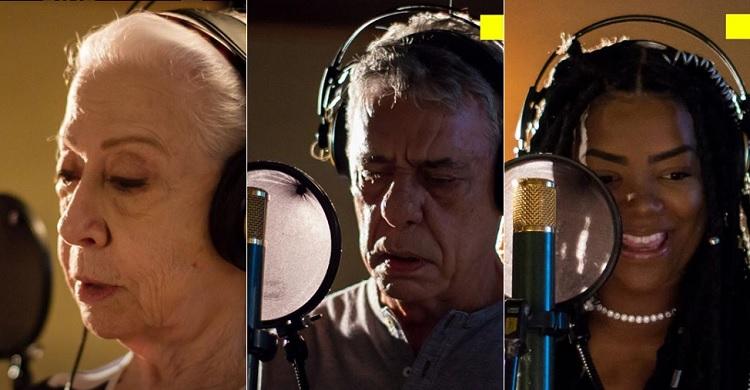 Resultado de imagem para Chico Buarque e Fernanda Montenegro cantam juntos em prol dos Direitos Humanos