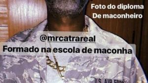 Mr. Catra faz apologia à maconha e apaga foto após polêmica