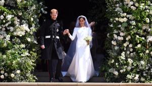 Estilista de vestido de Meghan Markle revela conversa com Príncipe Harry