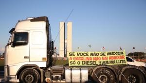 Caminhoneiros chegam ao Planalto para se reunirem com o governo