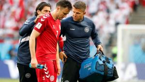 Volante da Dinamarca está fora da Copa após quebrar duas costelas