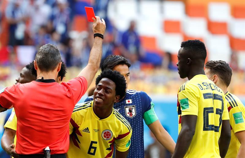 Expulsão de jogador colombiano é a segunda mais rápida da história das Copas do Mundo; veja a primeira