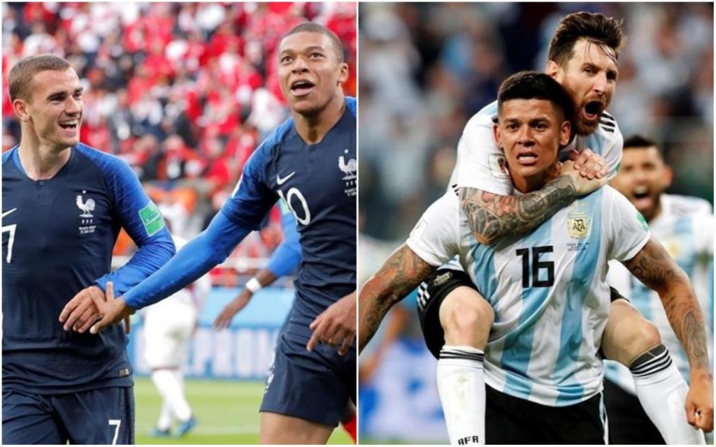 França e Argentina abrem as oitavas de final com encontro de Griezmann e  Messi d878e030bf4b4