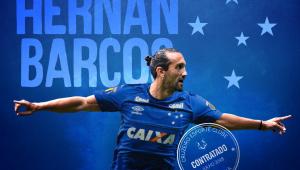 Cruzeiro anuncia contratação do atacante Hernán Barcos, ex-Palmeiras
