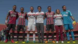 São Paulo apresenta novos uniformes em evento com Kaká no Morumbi