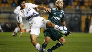 Com dois tempos distintos, Santos e Palmeiras empatam no Pacaembu