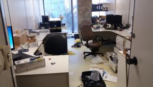 Salas do Ministério do Trabalho são invadidas e amanhecem reviradas nesta segunda (16)