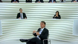 Bolsonaro participa do Roda Viva