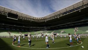 Palmeiras fecha preparação para pegar Atlético-MG com treino fechado em sua arena