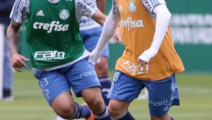 Guerra volta a treinar e se aproxima de retorno no Palmeiras