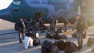 Sessenta homens da Força Nacional chegam em RR para atuar em Pacaraima