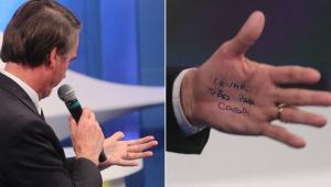 De lista de mercado a provocação futebolística: 'cola' de Bolsonaro vira meme
