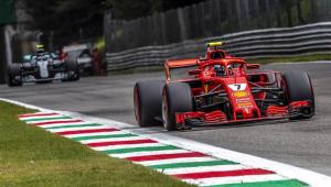 Raikkonen crava recorde, larga na frente e Ferrari terá dobradinha na Itália