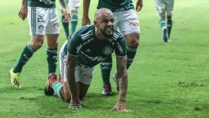 Felipe Melo salva o Palmeiras no último minuto e dedica gol a Bolsonaro