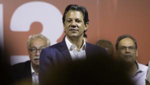 Haddad critica ameaças à democracia e comemora evolução nas pesquisas de intenção de voto