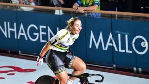 A ciclista alemã Kristina Vogel