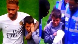 Neymar não marca, mas volta a protagonizar cena emocionante com criança em jogo do PSG