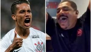 Comentarista, Vampeta não se segura e vai à loucura com gol de Pedrinho; assista