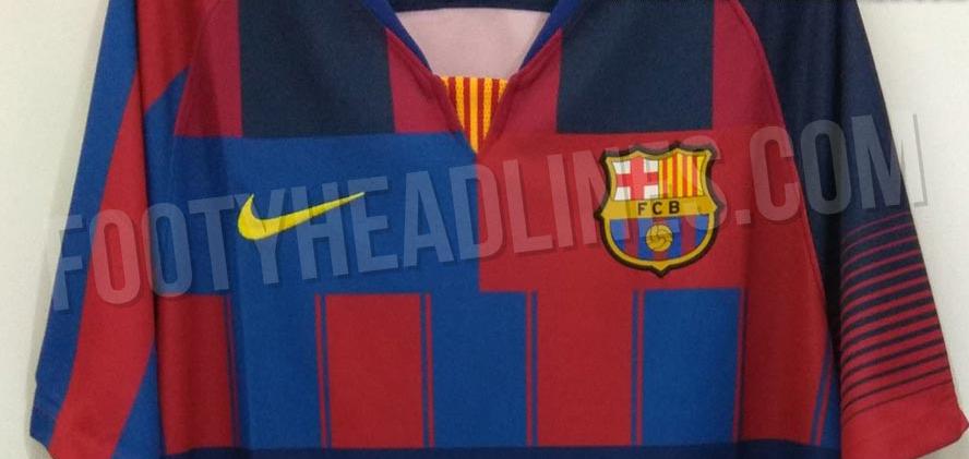 7a00e6c6ea Possível nova camisa do Barcelona é mistura de uniformes de 20 anos ...