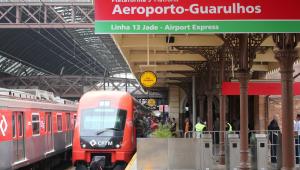 Trem direto entre a estação da Luz e Aeroporto de Guarulhos começa a operar nesta terça (16)