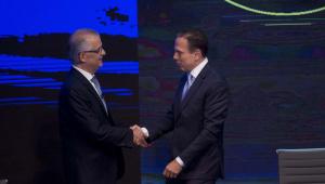Primeiro debate entre Márcio França e João Doria na TV tem troca de ofensas e acusações