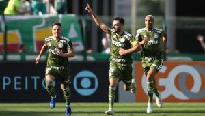 Aniversariante do dia, Bruno Henrique marca dois e Palmeiras bate o Ceará no Pacaembu