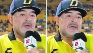 O que aconteceu? Maradona trava em entrevista e preocupa fãs: 'Vergonhoso'