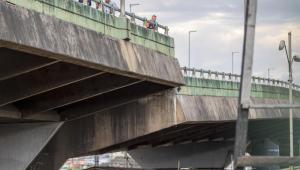 Oscilações em viaduto que cedeu se normalizam; CPTM libera circulação de trens