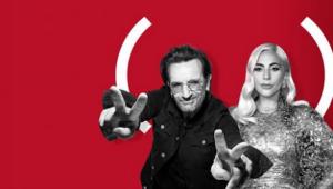 ONG reúne Lady Gaga e Bono Vox em campanha contra a AIDS