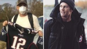 Tom Brady comove com post a fã que perdeu tudo em incêndio, menos a sua camisa