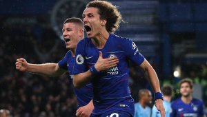 David Luiz marca e Chelsea bate Manchester City no Campeonato Inglês