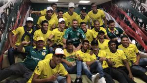 Galvez conhece jogadores do Palmeiras e visita Allianz Parque antes de voltar ao Acre