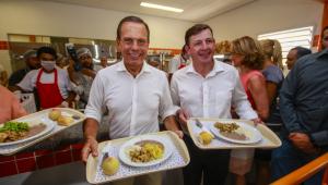 Em São Bernardo, Doria inaugura unidade do restaurante 'Bom Prato Dia e Noite'