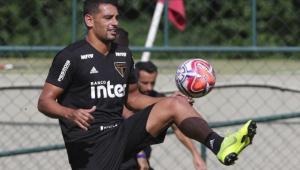 Liberado, Diego Souza treina e pode participar da estreia do São Paulo no Paulistão