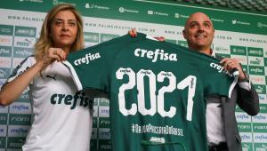 Leila diz que patrocínio do Palmeiras é invejado e deveria ser modelo para outros times