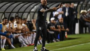 Sampaoli fica satisfeito com Santos, mas já avisa que fará mudanças para 2º jogo