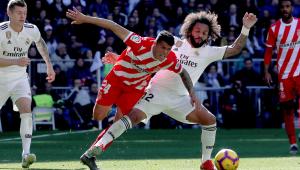 Em volta de Marcelo, Real Madrid toma virada e perde para Girona