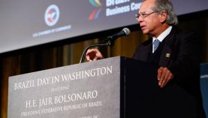 Guedes defende abertura econômica e pede investimentos para o Brasil