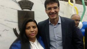 A então candidata Zuleide Oliveira com o atual ministro do Turismo, Marcelo Álvaro Antônio