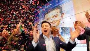 O humorista Vladimir Zelensky é o novo presidente da Ucrânia