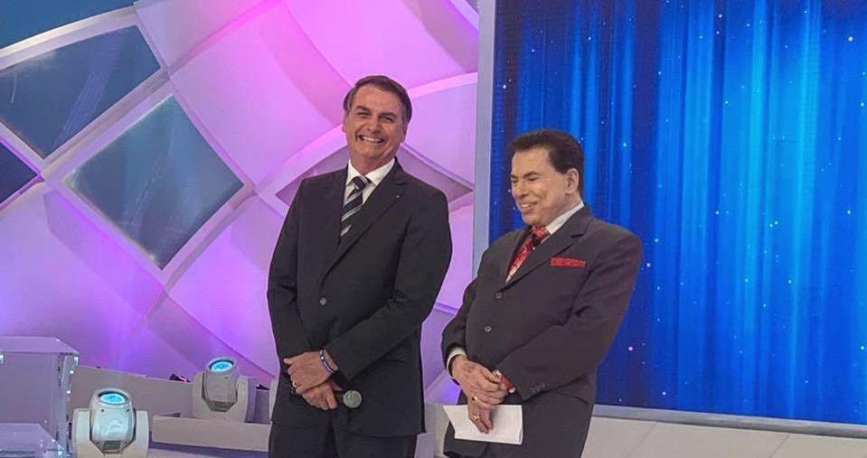 Bolsonaro grava com Silvio Santos: 'Assuntos de interesse de todos os brasileiros'