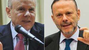 O ex-ministro da Fazenda Guido Mantega e o ex-presidente do Banco Nacional de Desenvolvimento Econômico e Social (BNDES) Luciano Coutinho