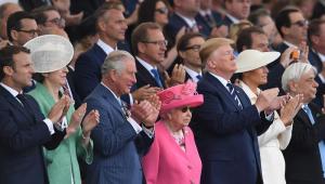 Cerimônia que celebra os 75 anos do 'Dia D' da Segunda Guerra Mundial conta com a presença do presidente dos Estados Unidos, Donald Trump, da rainha Elizabeth II, da primeira-ministra do Reino Unido, Theresa May, do presidente da França, Emmanuel Macron, da chanceler alemã, Angela Merkel e do primeiro-ministro do Canadá, Justin Trudeau